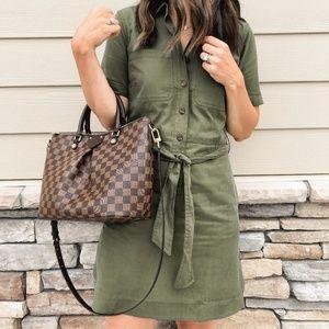 NWT Jcrew factory womens military Shirt Dress 4